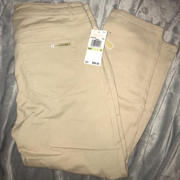1d268000809e9 NWT Michael kors khaki cropped skinny size 4